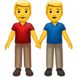 👬 Men Holding Hands, Emoji by Apple