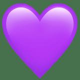 lila herz emoji