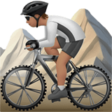 🚵🏽 Person Mountain Biking: Medium Skin Tone, Emoji by Apple