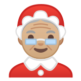 🤶🏼 Mrs. Claus: Medium-Light Skin Tone, Emoji by Google