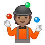 🤹🏽 Person Juggling: Medium Skin Tone, Emoji by Google