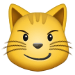 😼 Cat with Wry Smile, Emoji by Samsung