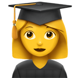 👩‍🎓 Woman Student, Emoji by Apple