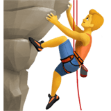 🧗‍♂️ Man Climbing, Emoji by Apple
