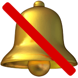 🔕 Bell with Slash, Apple  Emoji