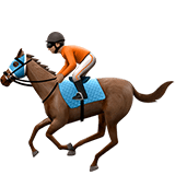 🏇🏽 Horse Racing: Medium Skin Tone, Emoji by Apple