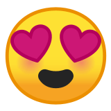 😍 Smiling Face with Heart-Eyes, Emoji by Google