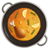 🥘 Shallow Pan of Food, Apple  Emoji