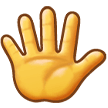 🖐️ Hand with Fingers Splayed, Emoji by Samsung
