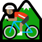 🚵🏽 Person Mountain Biking: Medium Skin Tone, Emoji by Microsoft