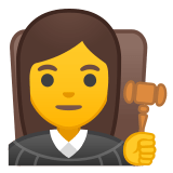 👩‍⚖️ Woman Judge, Emoji by Google