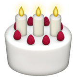 🎂 Birthday Cake, Apple  Emoji