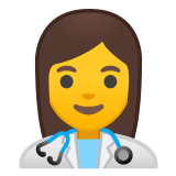 👩‍⚕️ Woman Health Worker, Emoji by Google
