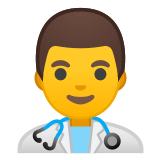 👨‍⚕️ Man Health Worker, Emoji by Google
