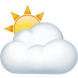⛅ Sun Behind Cloud, Apple  Emoji