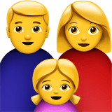👨‍👩‍👧 Family: Man, Woman, Girl, Apple  Emoji