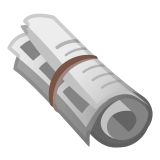 🗞️ Rolled-Up Newspaper, Google  Emoji