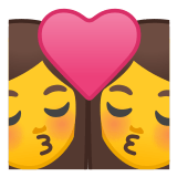 👩‍❤️‍💋‍👩 Kiss: Woman, Woman, Emoji by Google