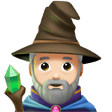 🧙🏻‍♂️ Man Mage: Light Skin Tone, Emoji by Apple