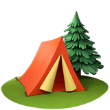 🏕️ Camping, Apple  Emoji