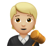 🧑🏼‍⚖️ Judge: Medium-Light Skin Tone, Emoji by Apple