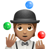 🤹🏽 Person Juggling: Medium Skin Tone, Emoji by Apple