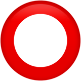 ⭕ Hollow Red Circle, Emoji by Apple