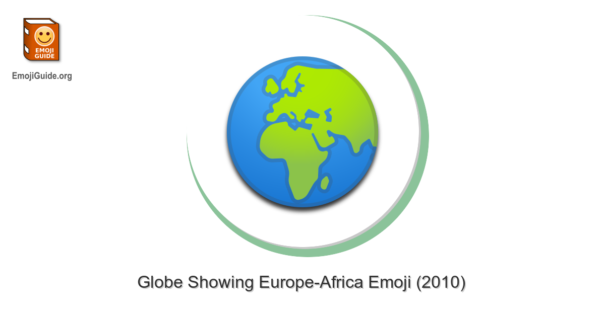 🌍 Globe Showing Europe-Africa Emoji
