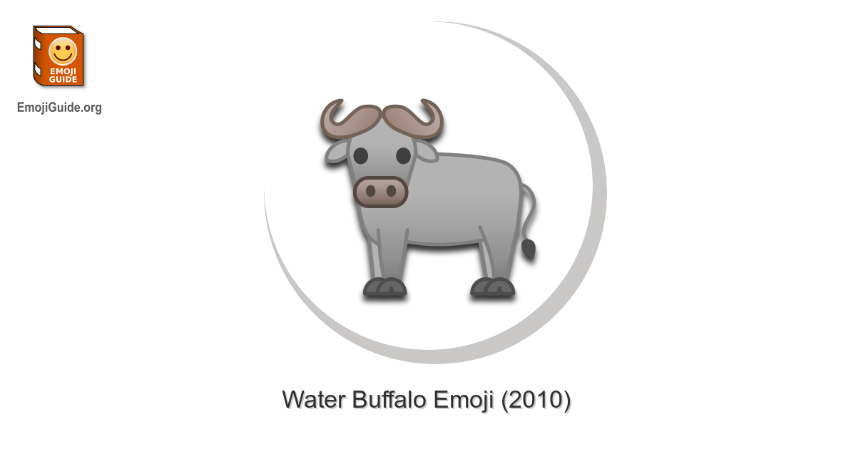 🐃 Water Buffalo Emoji – Meaning and Pictures – EmojiGuide