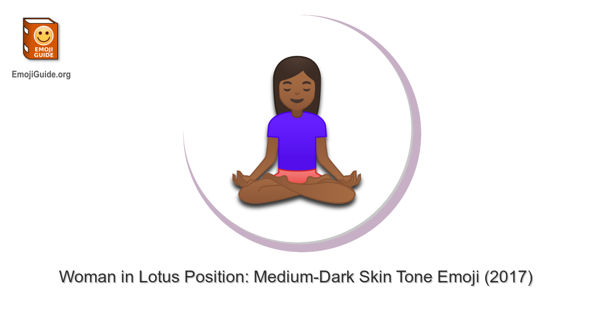🧘🏾 ♀️ Woman in Lotus Position: Medium-Dark Skin Tone Emoji