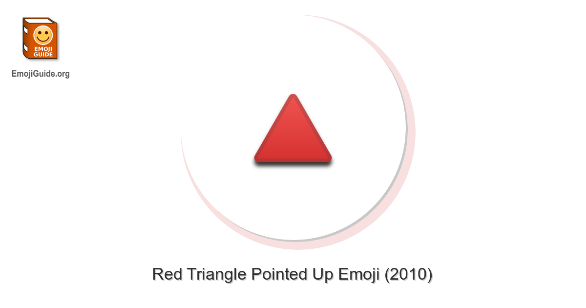 🔺 Red Triangle Pointed Up Emoji – EmojiGuide