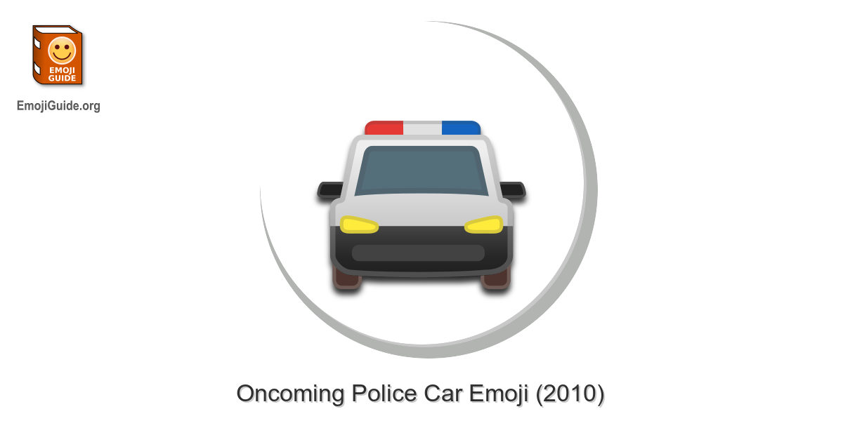 Oncoming Police Car Emoji Meaning Pictures Codes