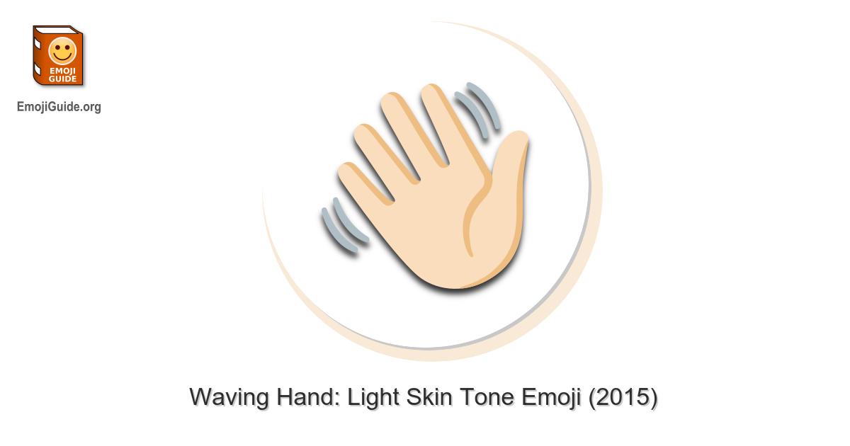 Hand emoji winkende 👋 Winkende