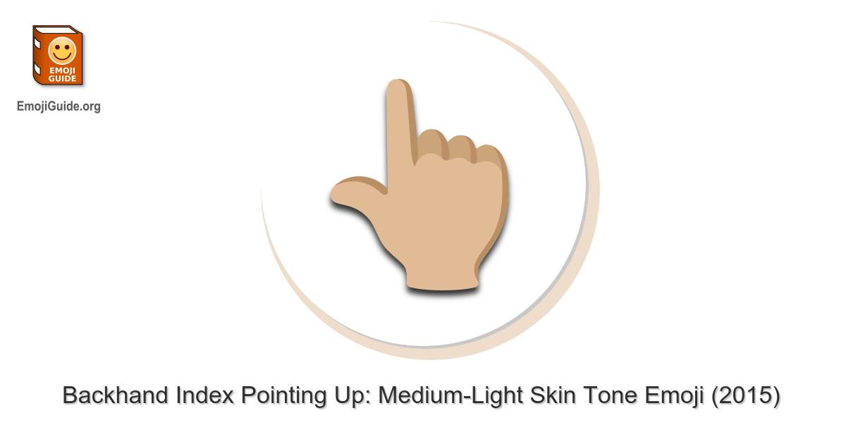 Hand Pointing Up Emoji